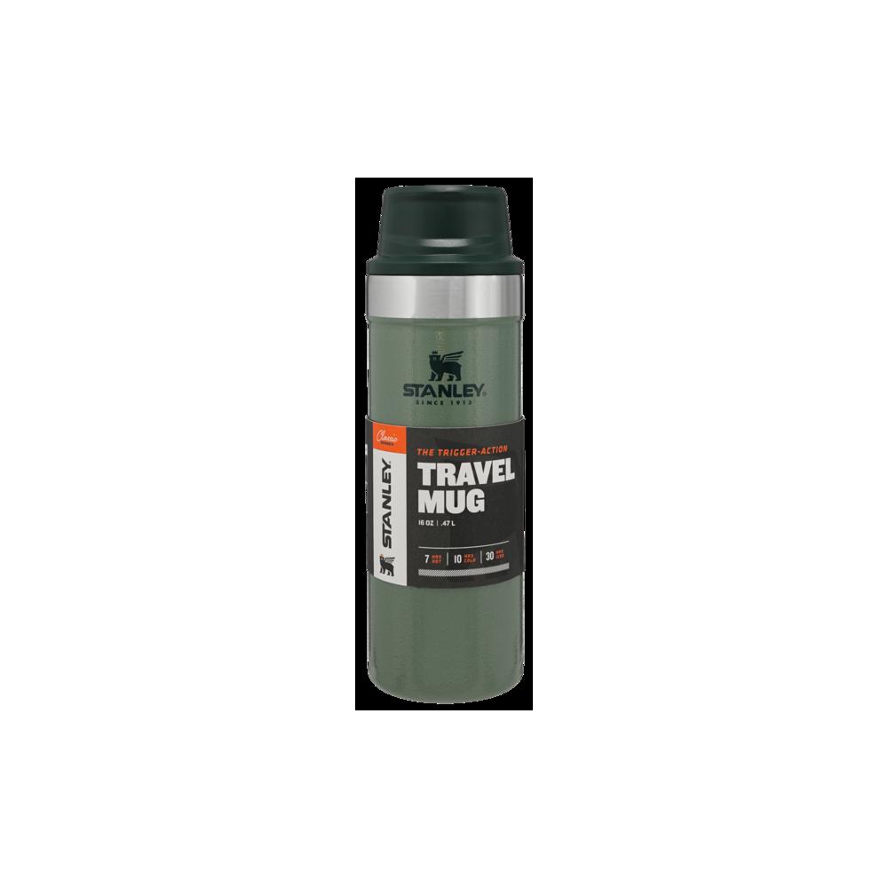 Bote de viaje Classic Trigger-Action 0,35L Verde Hammertone