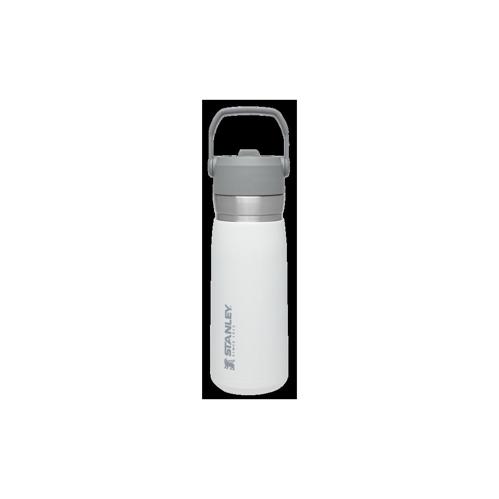 Bote termo agua con pajita abatible The IceFlow Go 0,65L Blanco