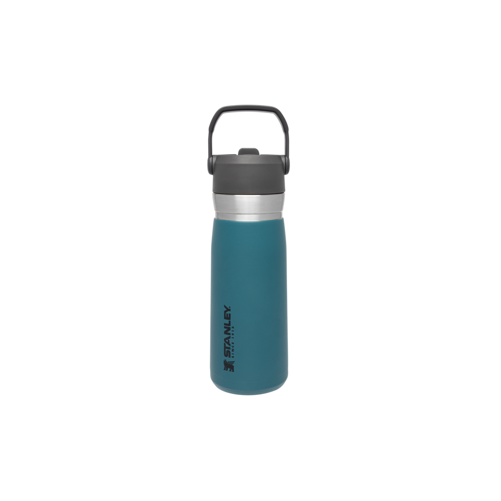 Bote termo agua con pajita abatible The IceFlow Go 0,65L Azul Laguna